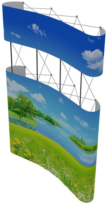 Купить pop-up стенд 3х5 с фризом в Новосибирске