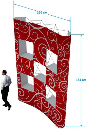 Купить pop-up стенд 3х5 с окнами в Новосибирске